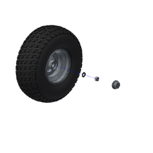 Tyre and Wheel Kit 18x750x8